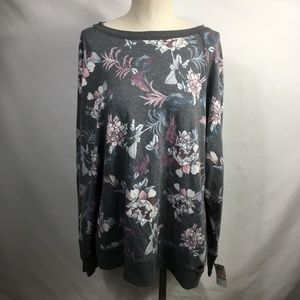 Ideology Tops - ideology Floral Open Sweater Long Sleeve
